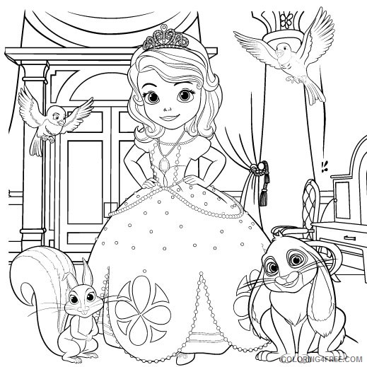 sofia the first coloring pages and friends Coloring4free