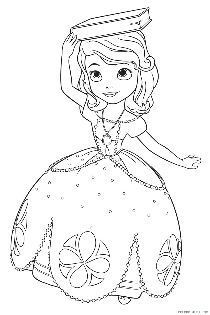sofia the first coloring pages for girls Coloring4free