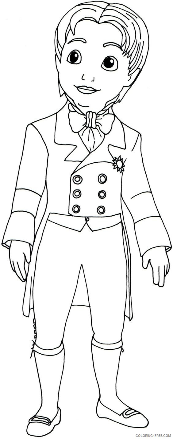 sofia the first coloring pages prince james Coloring4free