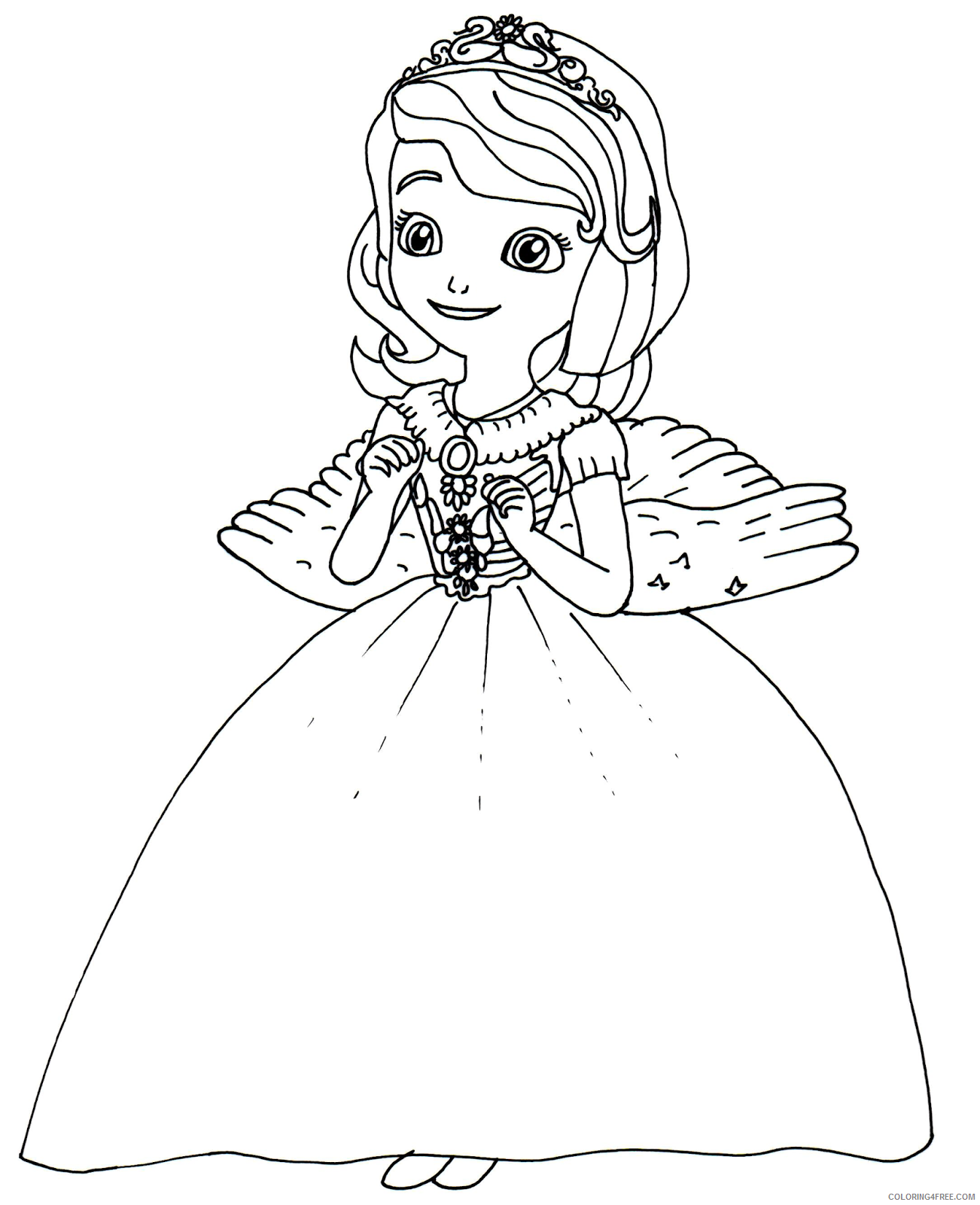 sofia the first coloring pages princess sofia angel costume Coloring4free