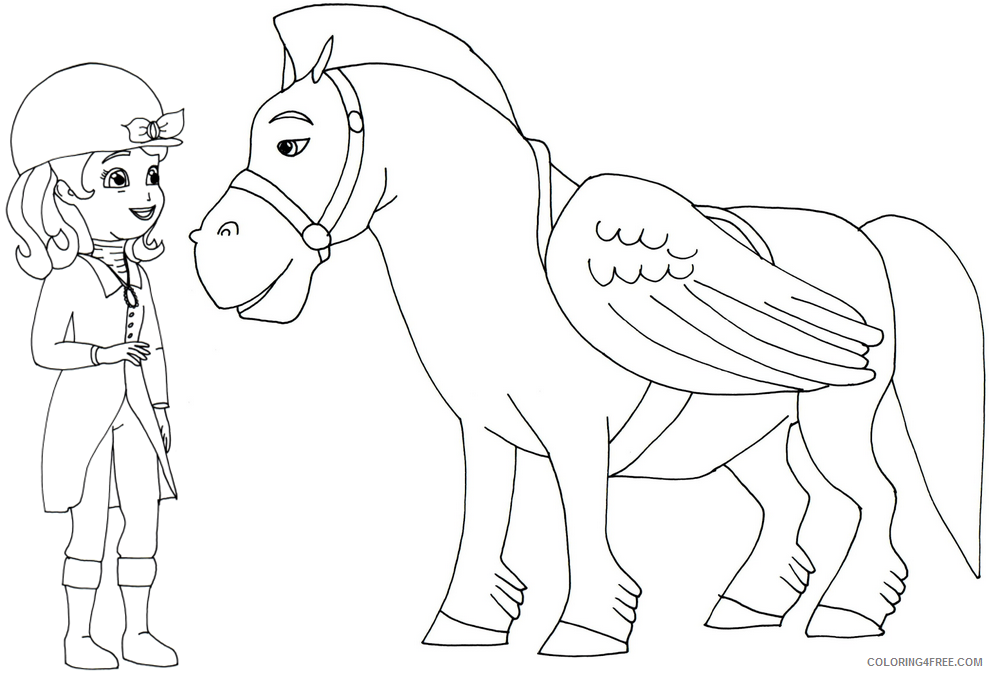 sofia the first coloring pages sofia and minimus Coloring4free