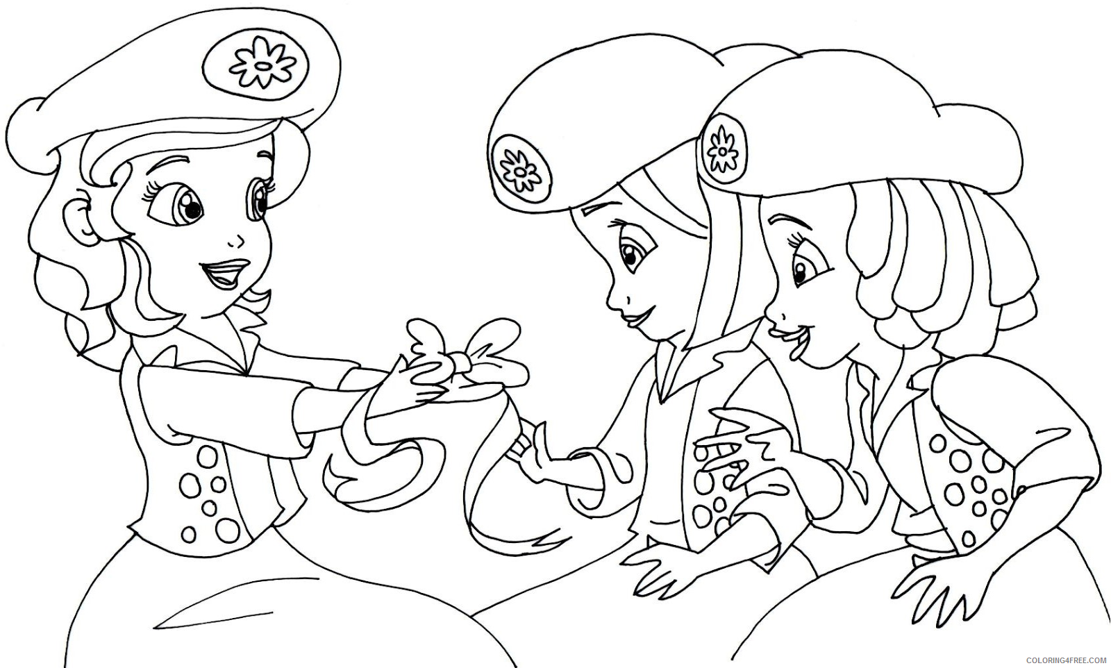sofia the first coloring pages the buttercups Coloring4free