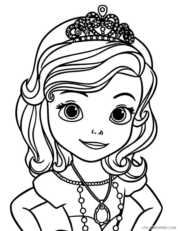 sofia the first coloring pages tiara Coloring4free