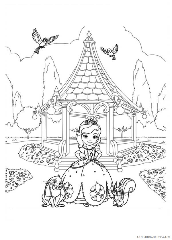 sofia the first once upon a princess coloring pages Coloring4free
