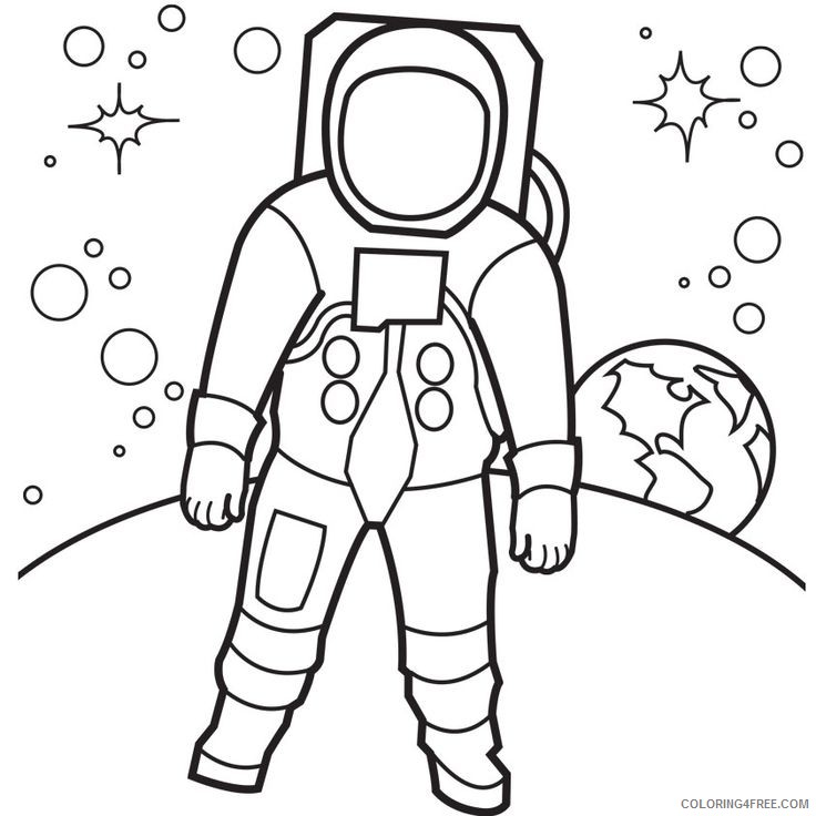 space coloring pages astronaut on the moon Coloring4free