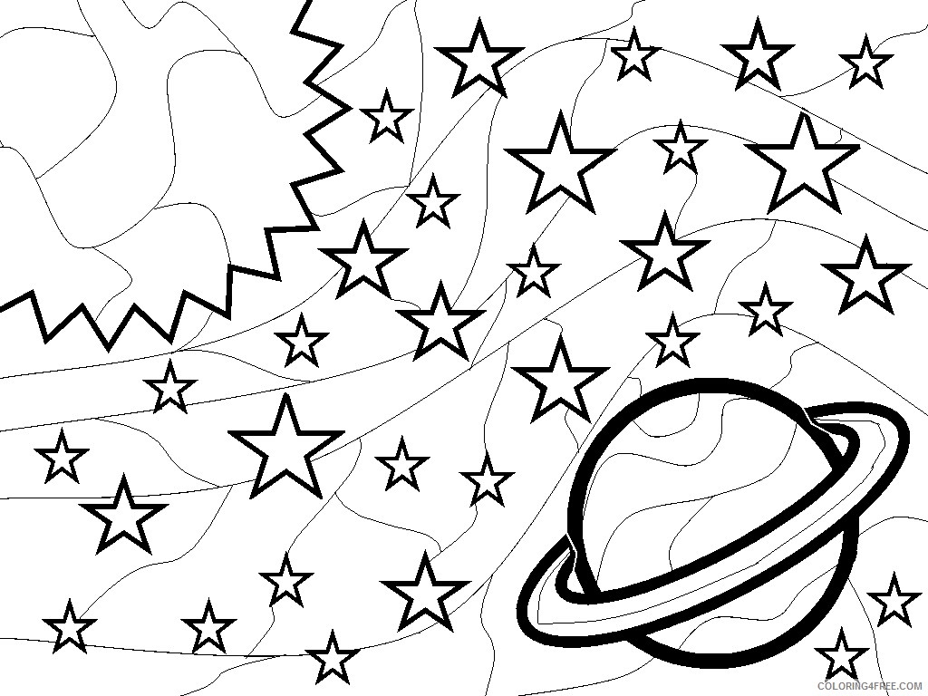 space coloring pages outer space Coloring4free