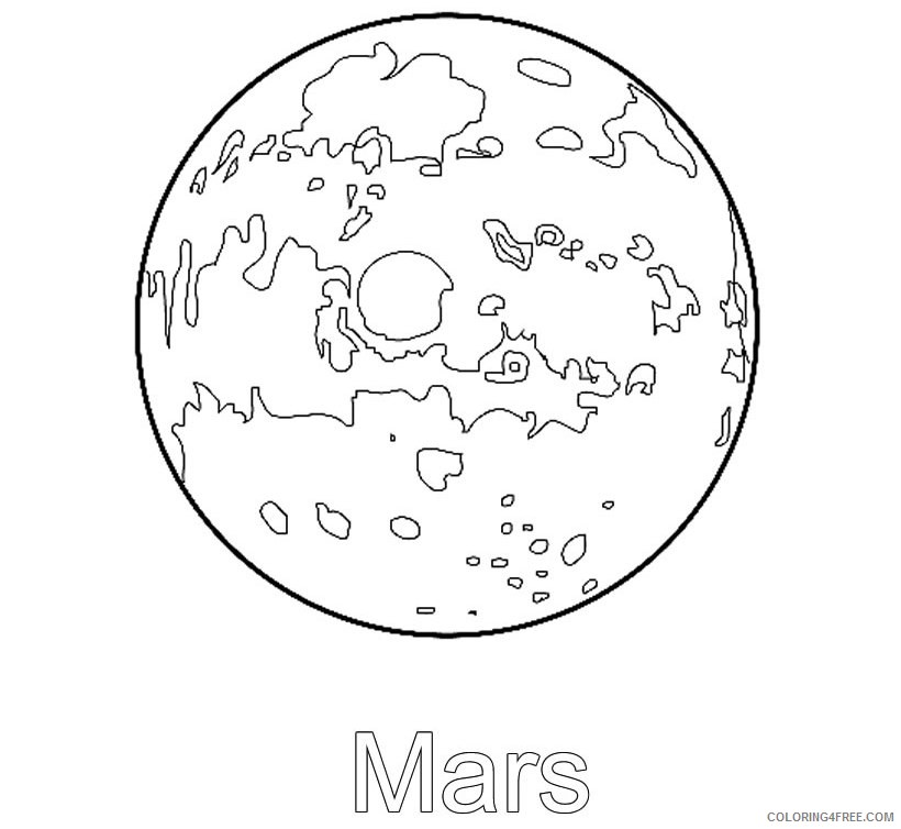 space coloring pages planet mars Coloring4free