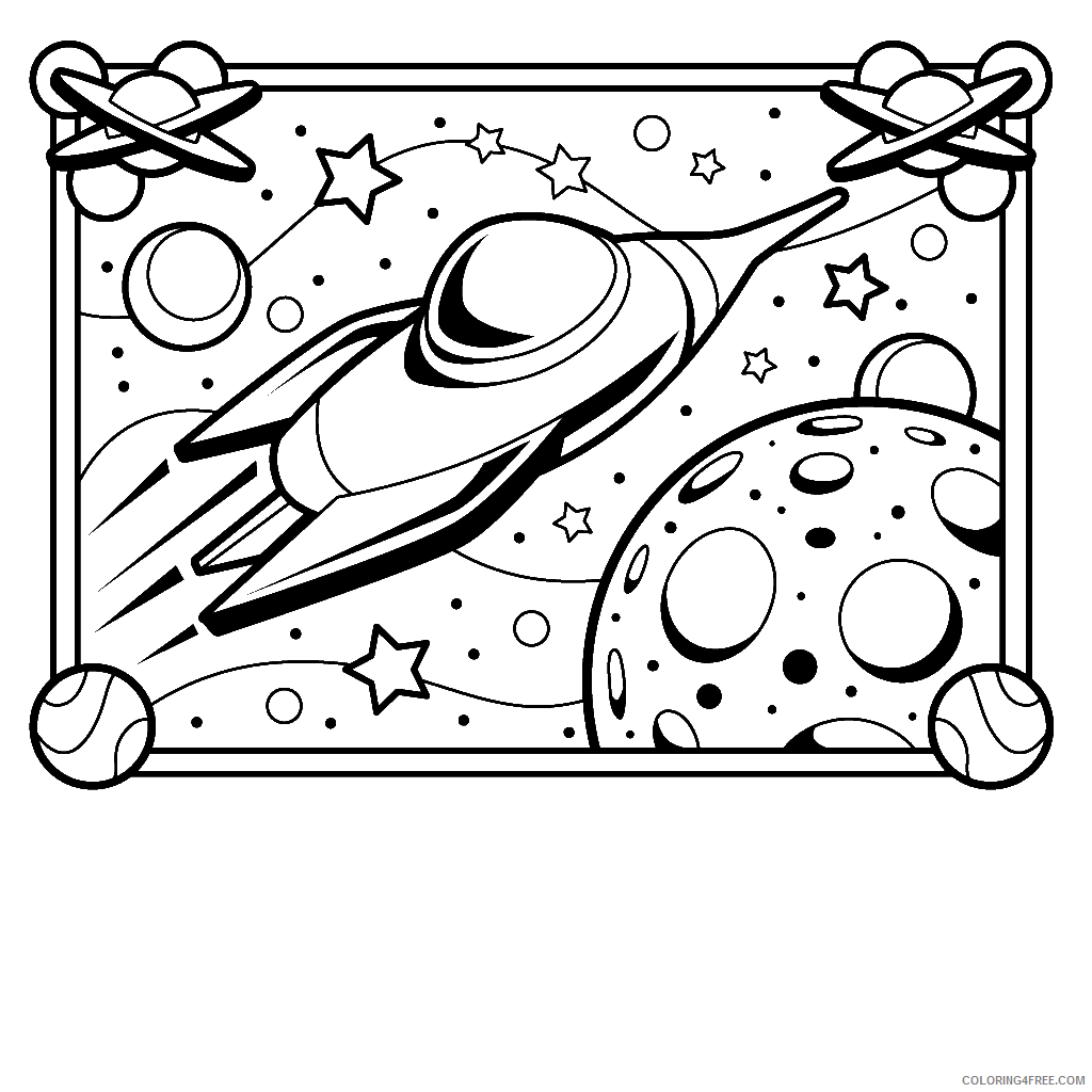 space coloring pages printable Coloring4free