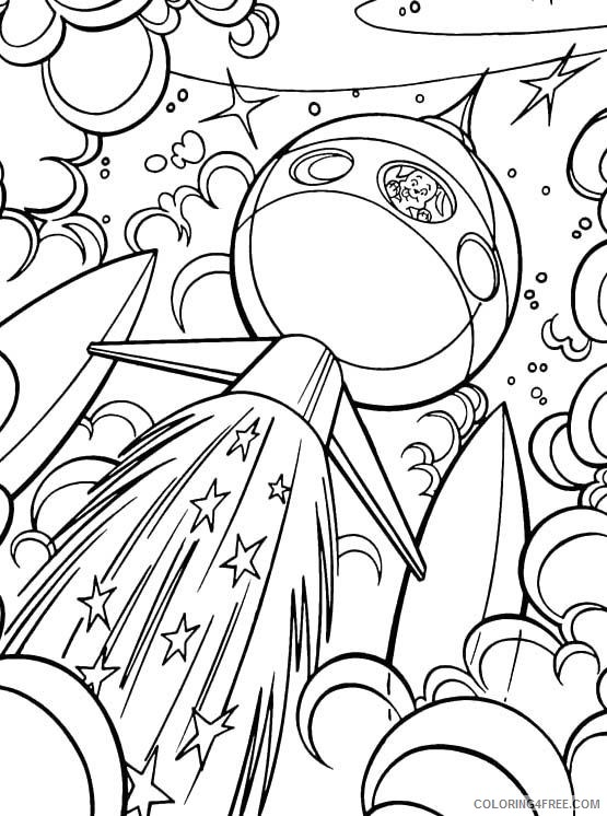 space coloring pages rocket launch Coloring4free
