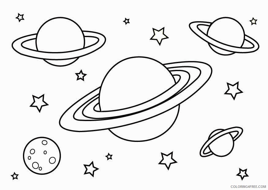 space coloring pages to print Coloring4free