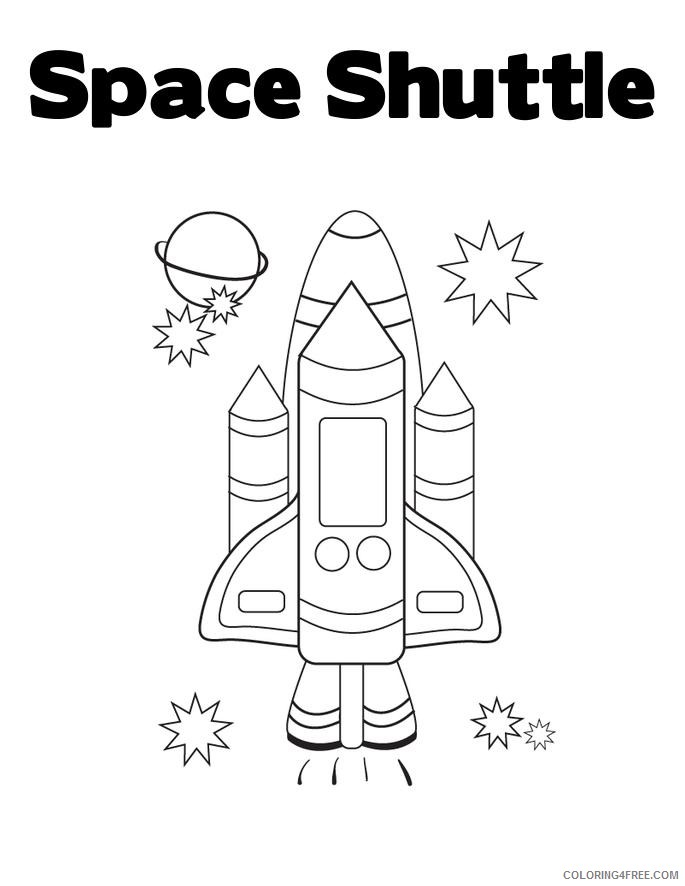 space shuttle coloring pages for kids Coloring4free
