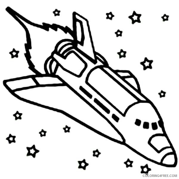 space shuttle coloring pages in outer space Coloring4free