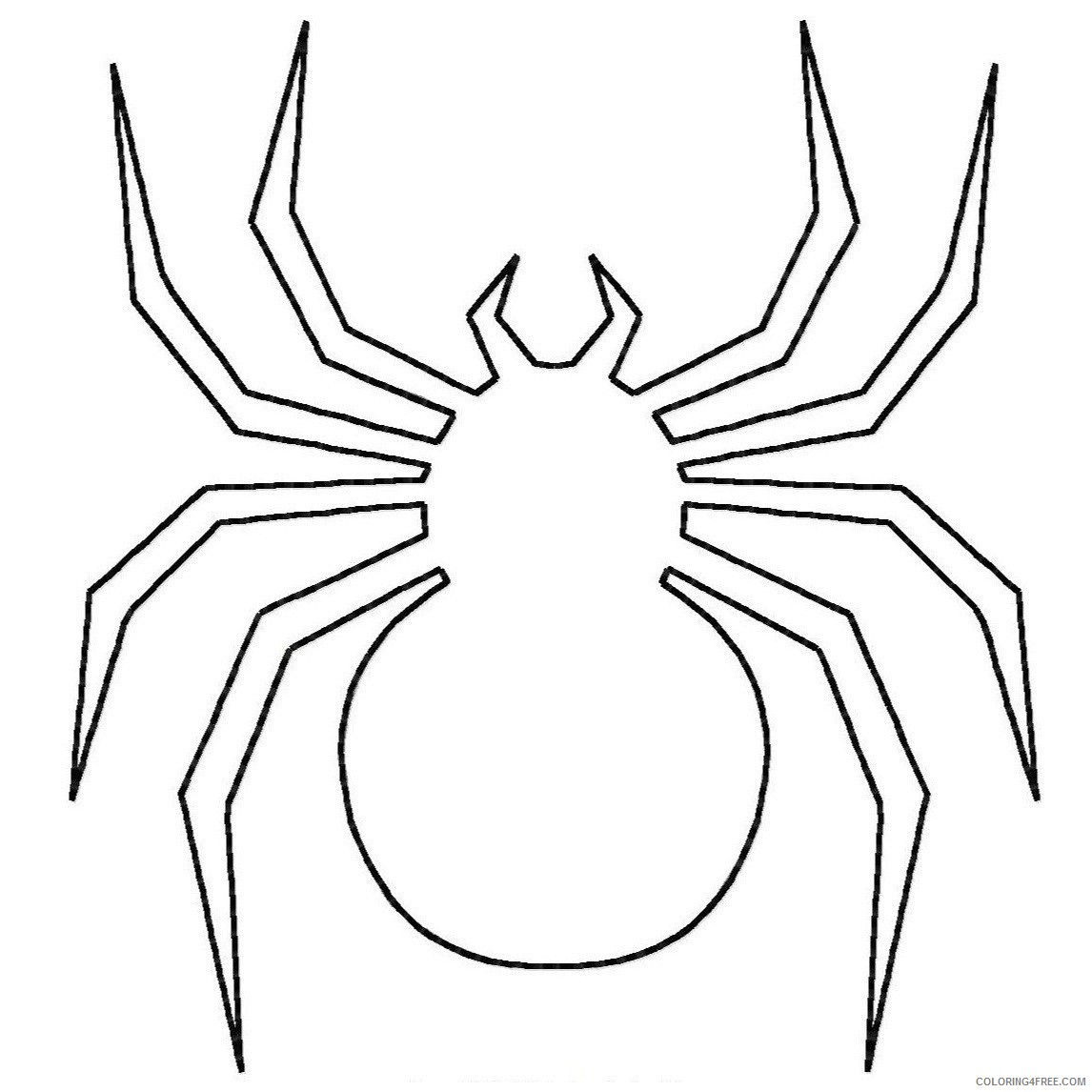 spider coloring pages for toddler Coloring4free