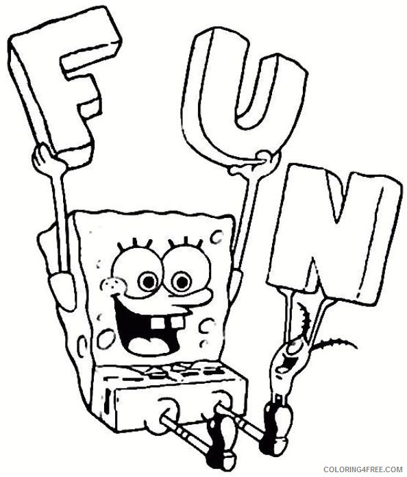 spongebob squarepants coloring pages fun with plankton Coloring4free