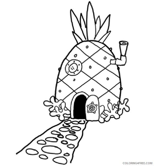 spongebob squarepants coloring pages house Coloring4free