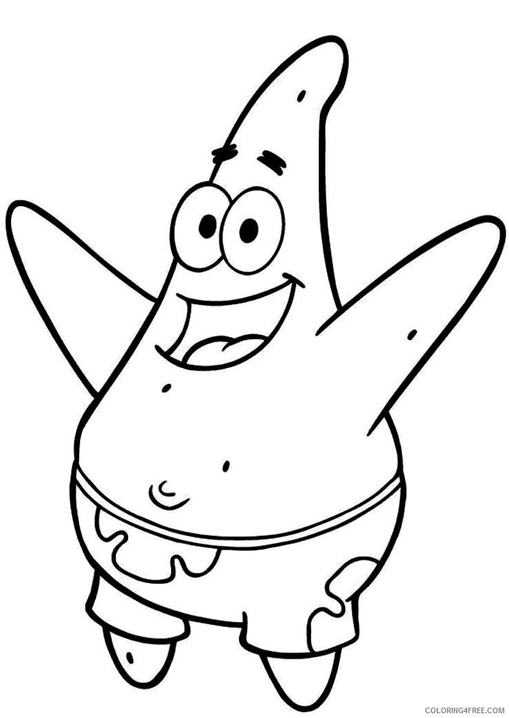 spongebob squarepants coloring pages patrick star Coloring4free