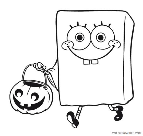 spongebob squarepants halloween coloring pages Coloring4free