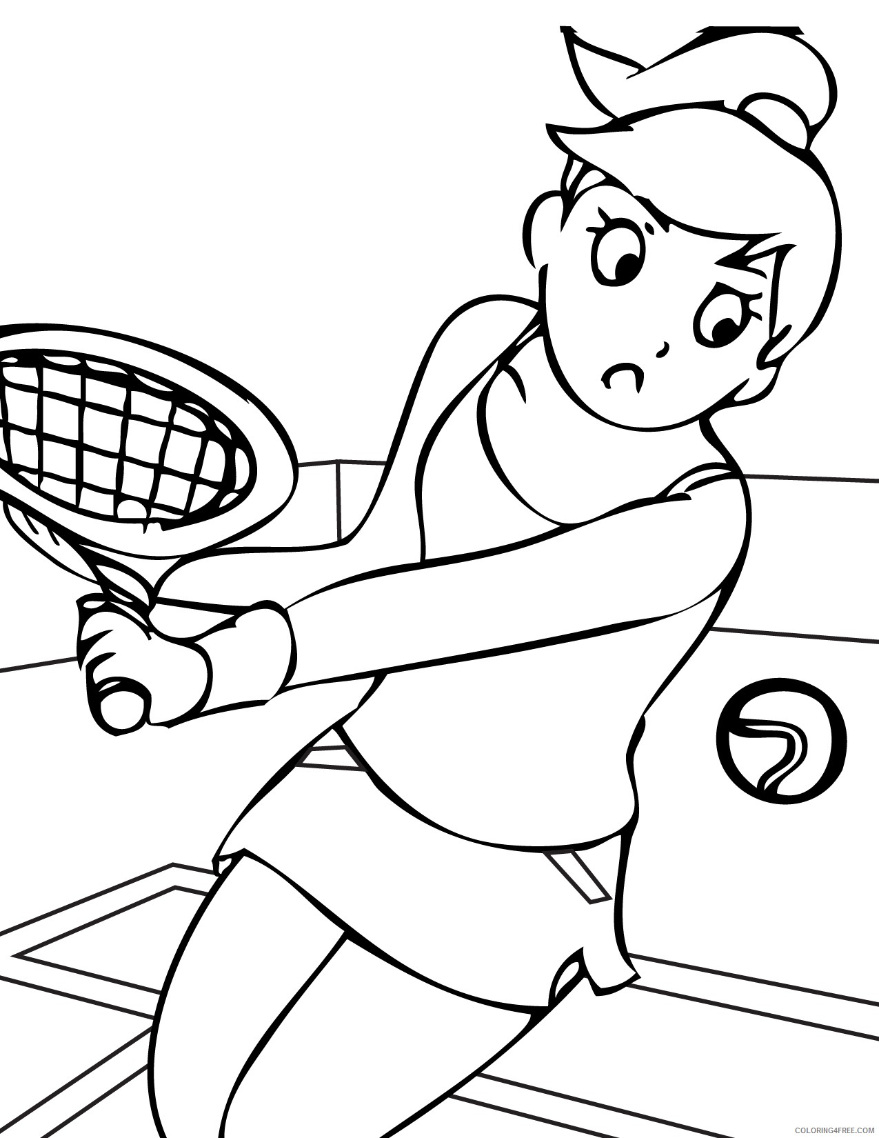 sports coloring pages tennis women Coloring4free