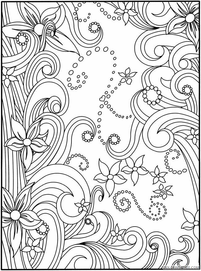 square flower kaleidoscope coloring pages Coloring4free