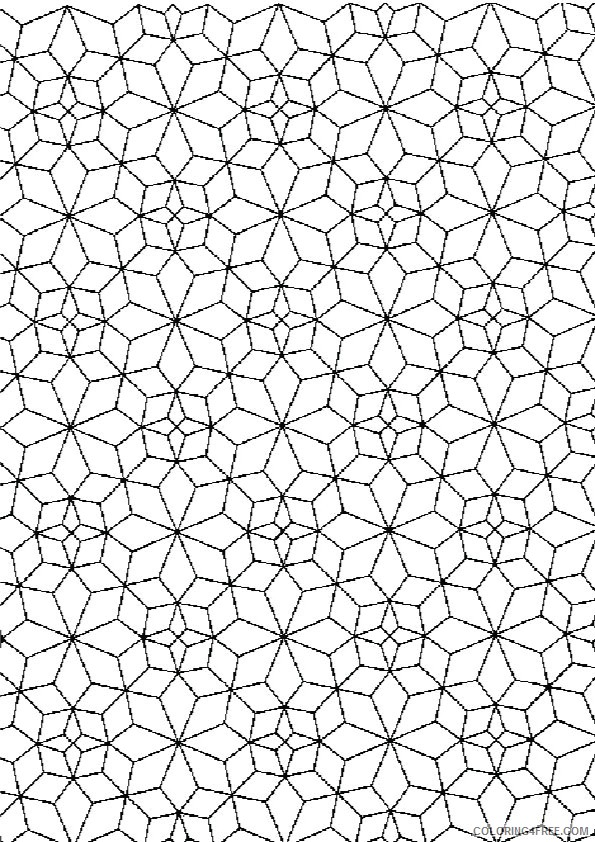 square kaleidoscope coloring pages Coloring4free