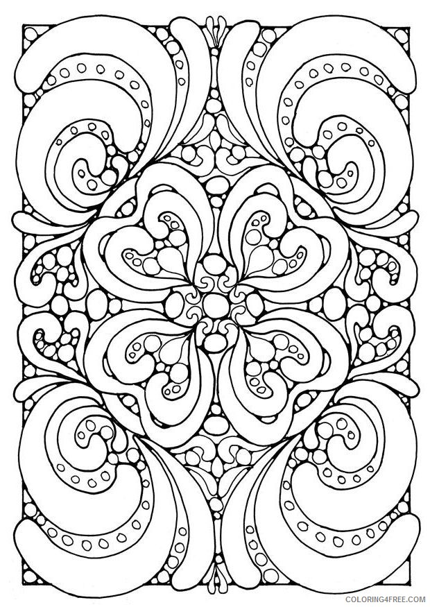 square mandala coloring pages Coloring4free