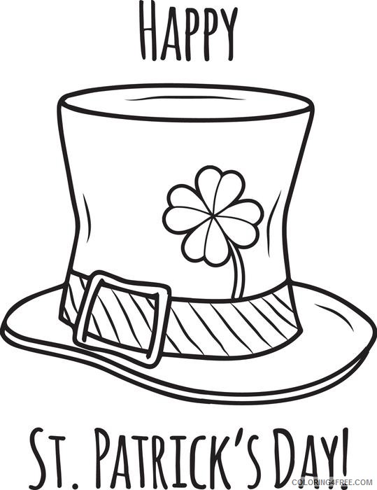 st patricks day coloring pages hat Coloring4free