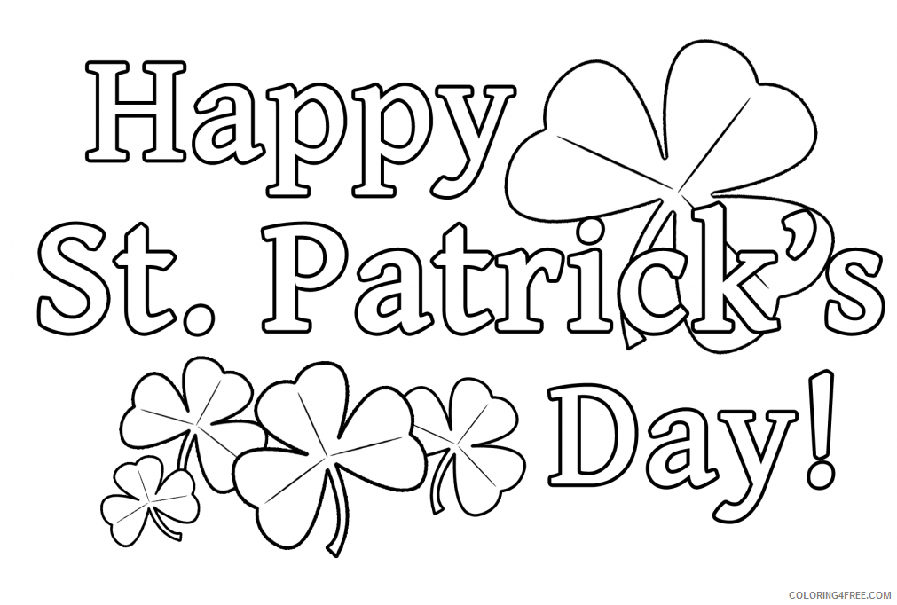 st patricks day coloring pages printable for kids Coloring4free