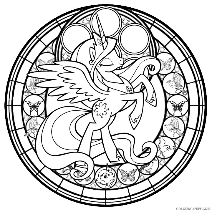 stained glass coloring pages disney my little pony Coloring4free