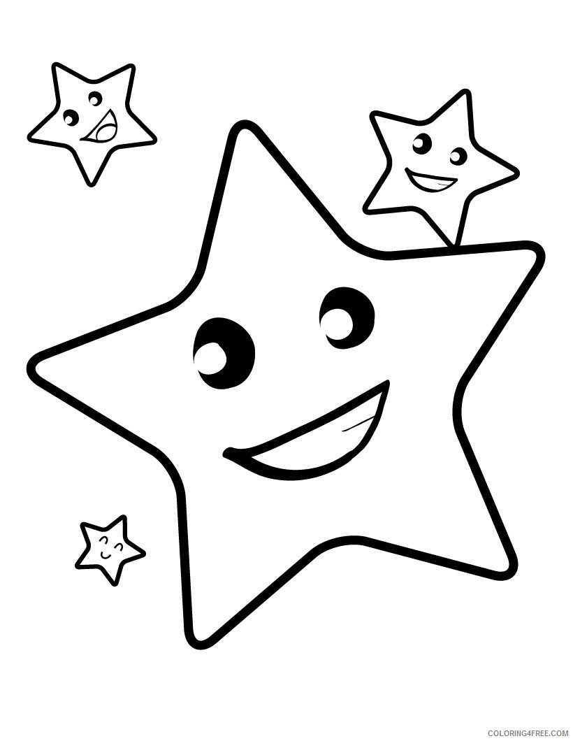 star coloring pages for kids Coloring4free