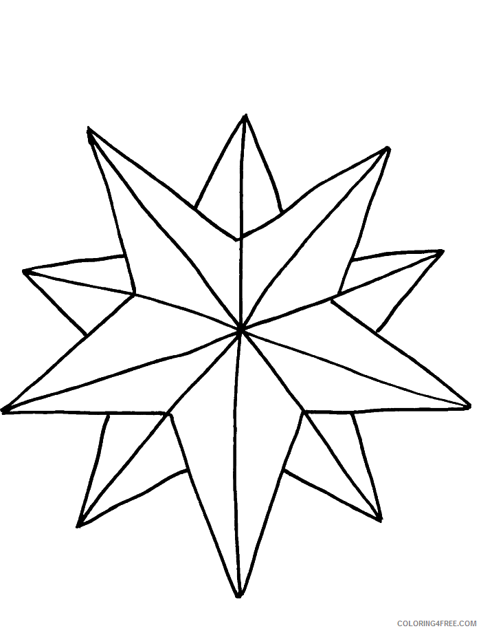 star coloring pages free to print Coloring4free