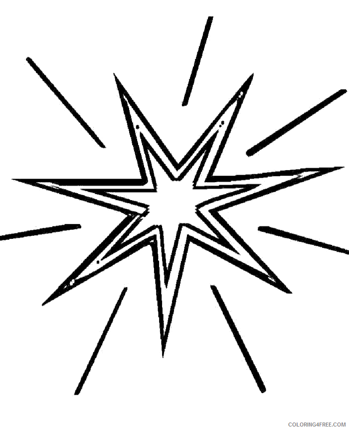 star coloring pages shining Coloring4free