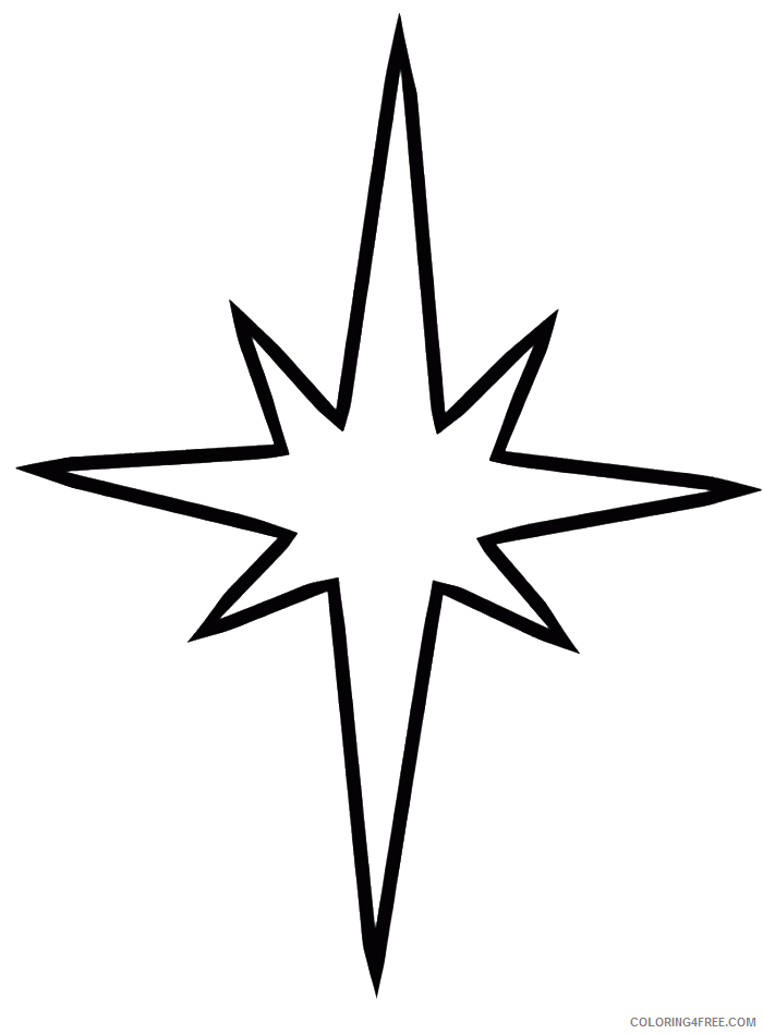 star coloring pages shining star Coloring4free