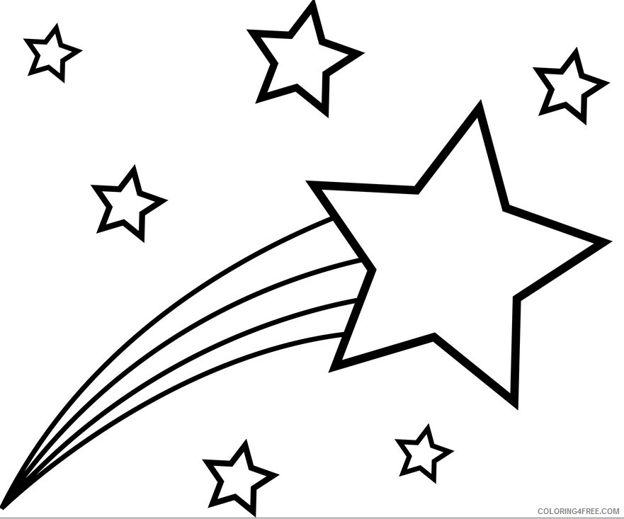 star coloring pages shooting star Coloring4free