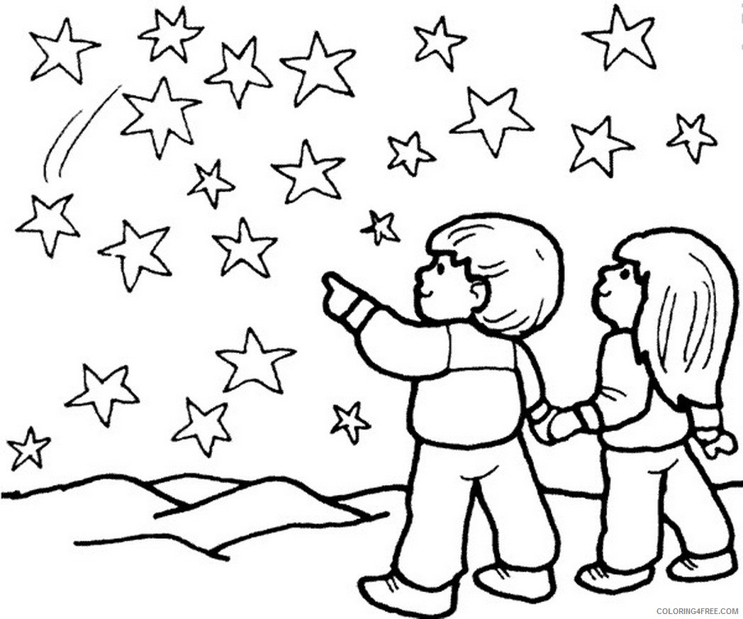 star coloring pages starry night Coloring4free