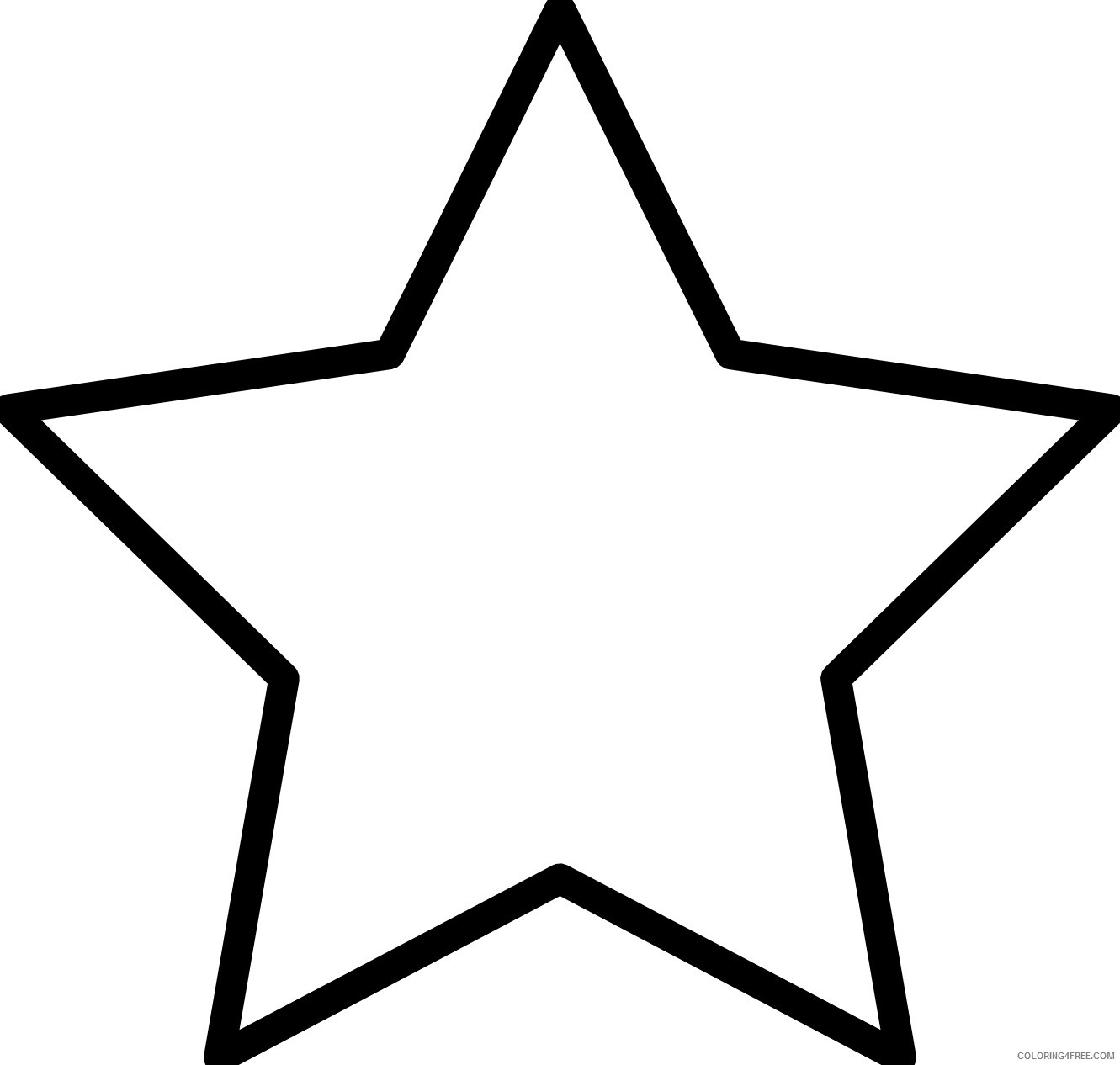 star coloring pages to print Coloring4free