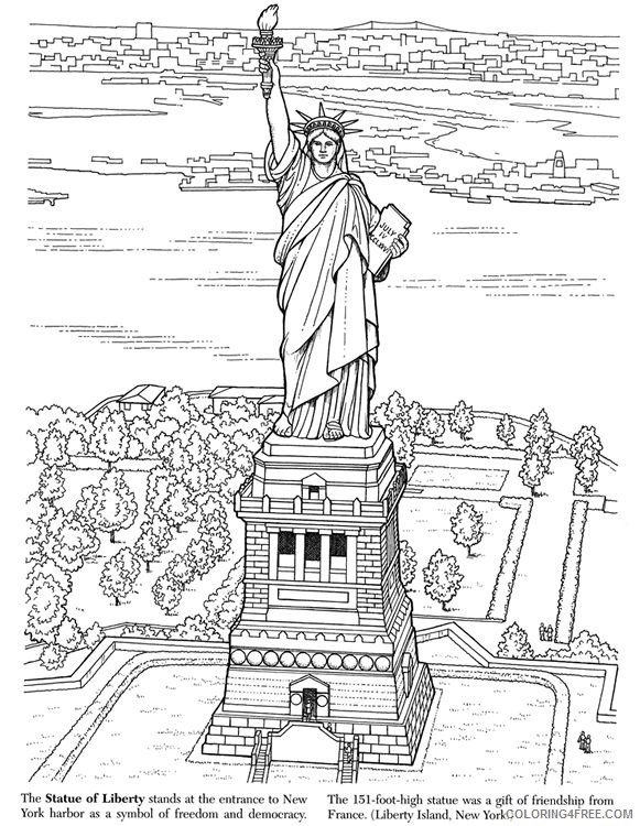 statue of liberty coloring pages for adults Coloring4free
