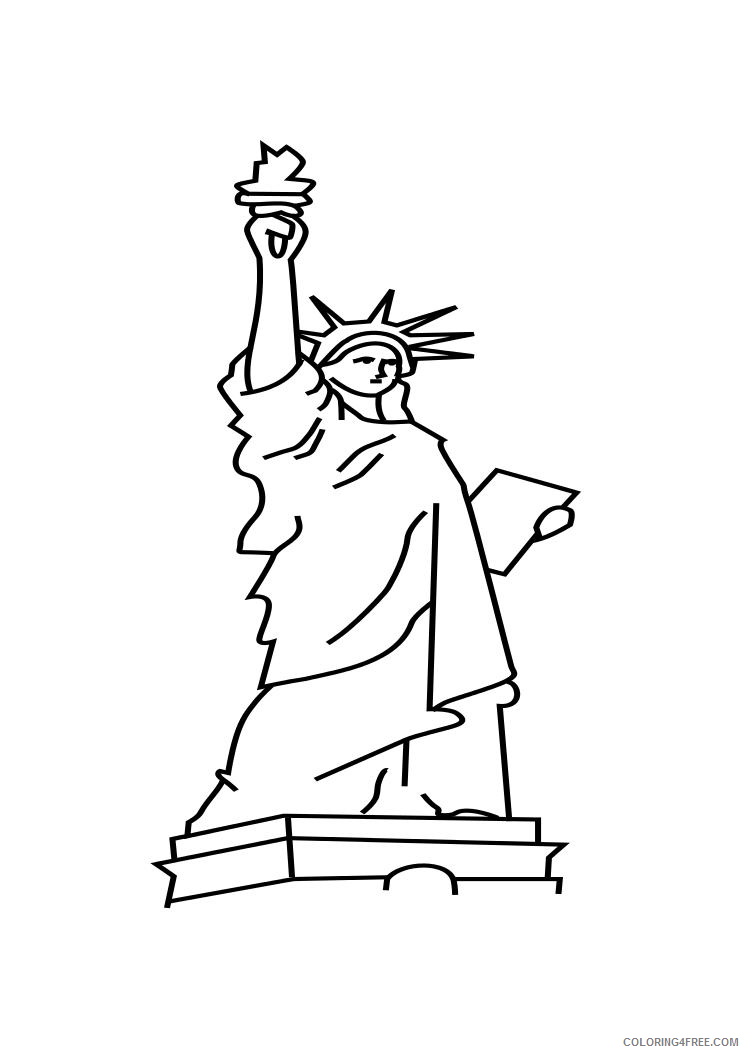 statue of liberty coloring pages for preschooler Coloring4free