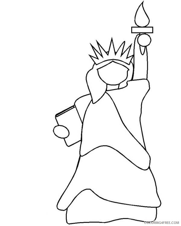 statue of liberty coloring pages for toddler Coloring4free