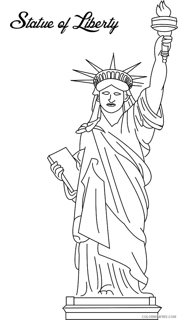 statue of liberty coloring pages free to print Coloring4free