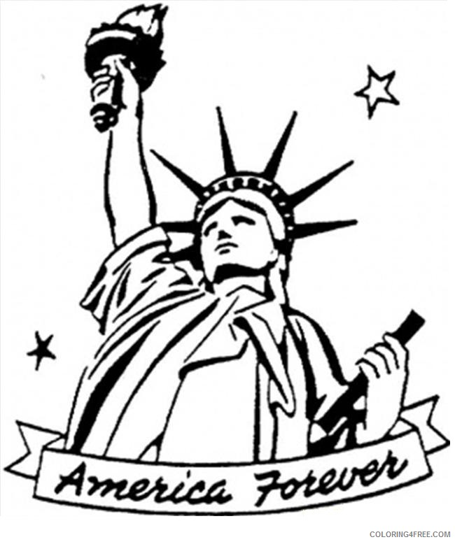 statue of liberty coloring pages in america Coloring4free