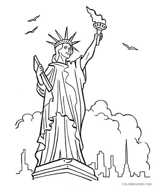 statue of liberty coloring pages in new york Coloring4free