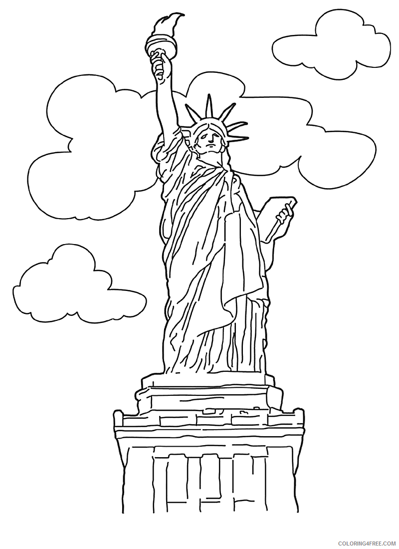 statue of liberty coloring pages printable Coloring4free