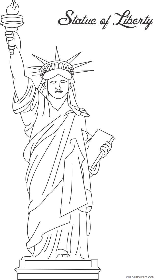 statue of liberty coloring pages to print Coloring4free