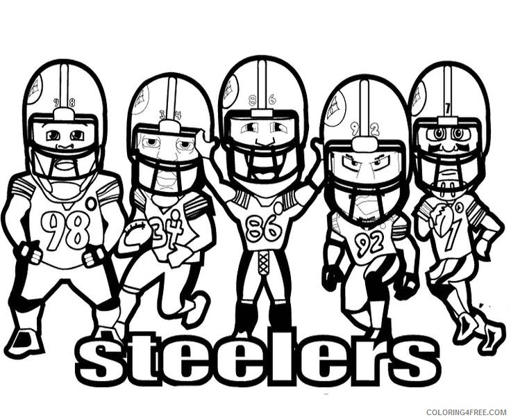 steelers football players coloring pages Coloring4free