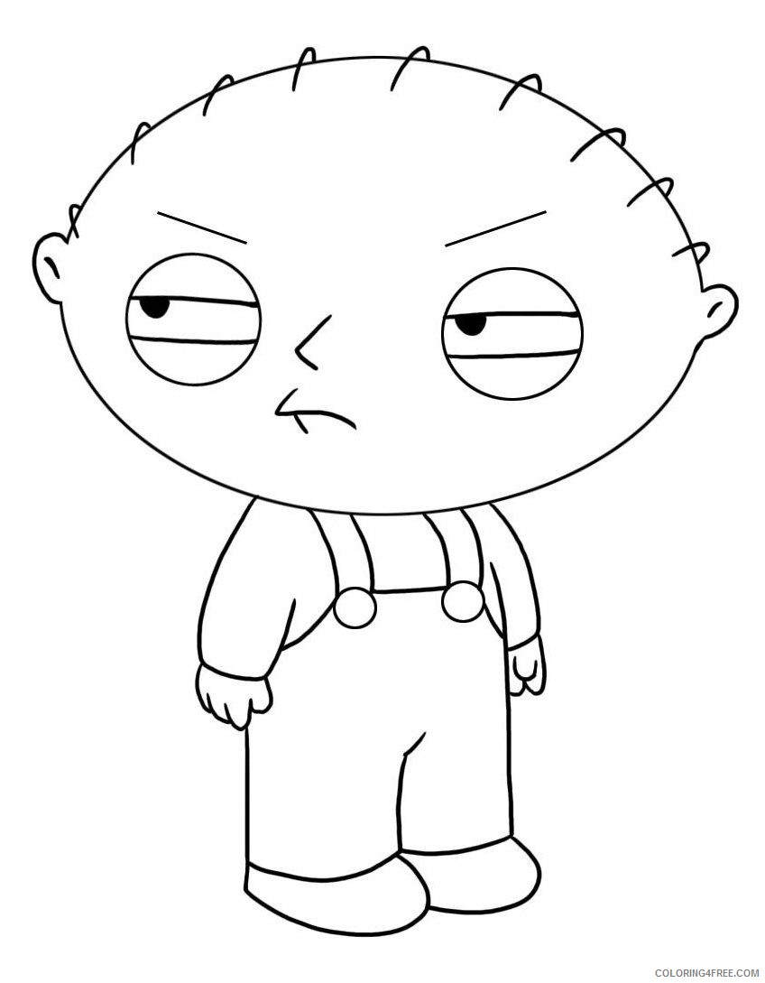 stewie family guy coloring pages Coloring4free