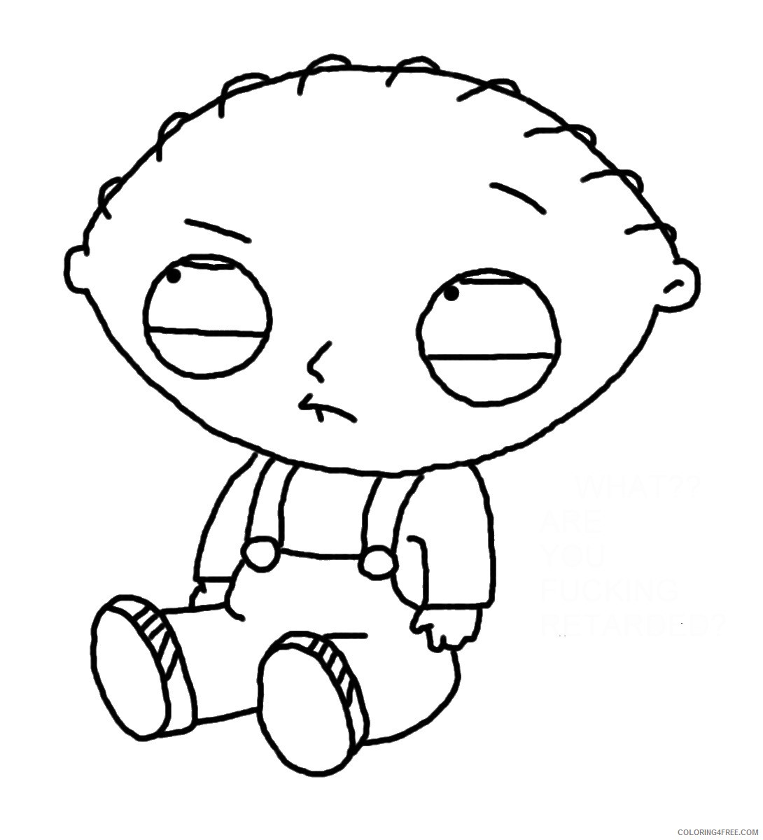 stewie griffin family guy coloring pages Coloring4free