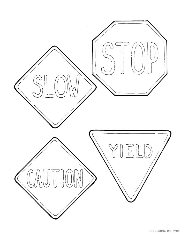 stop sign coloring pages free Coloring4free