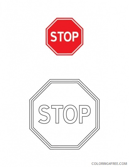 stop sign coloring pages free printable Coloring4free