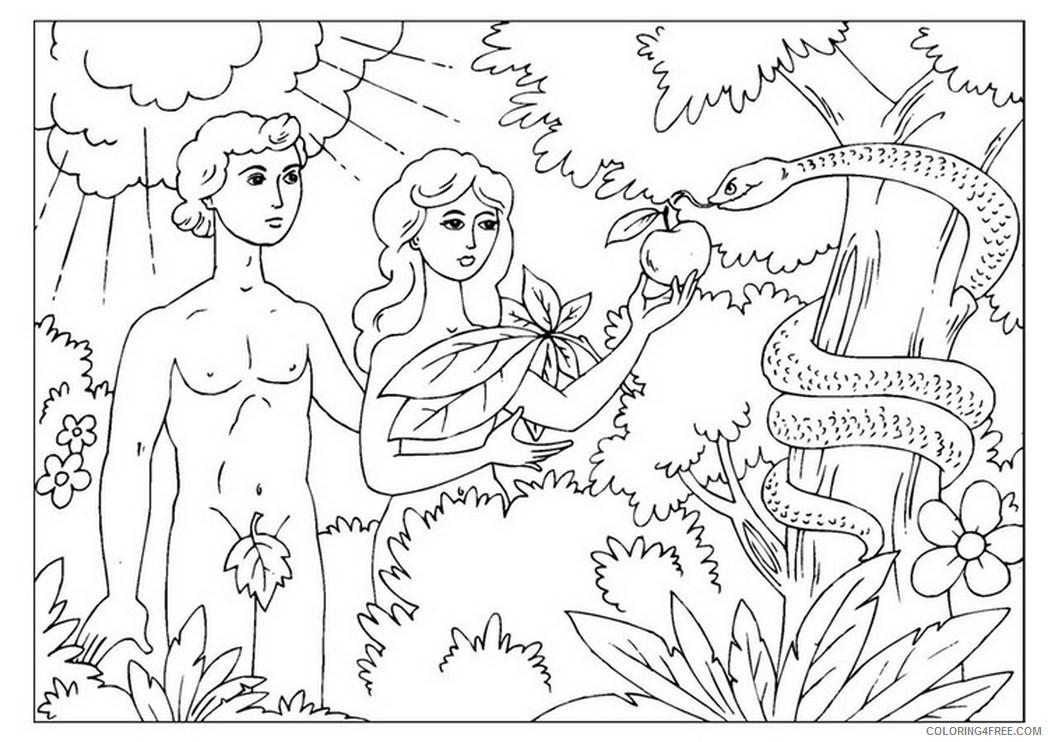 story of adam and eve coloring pages Coloring4free