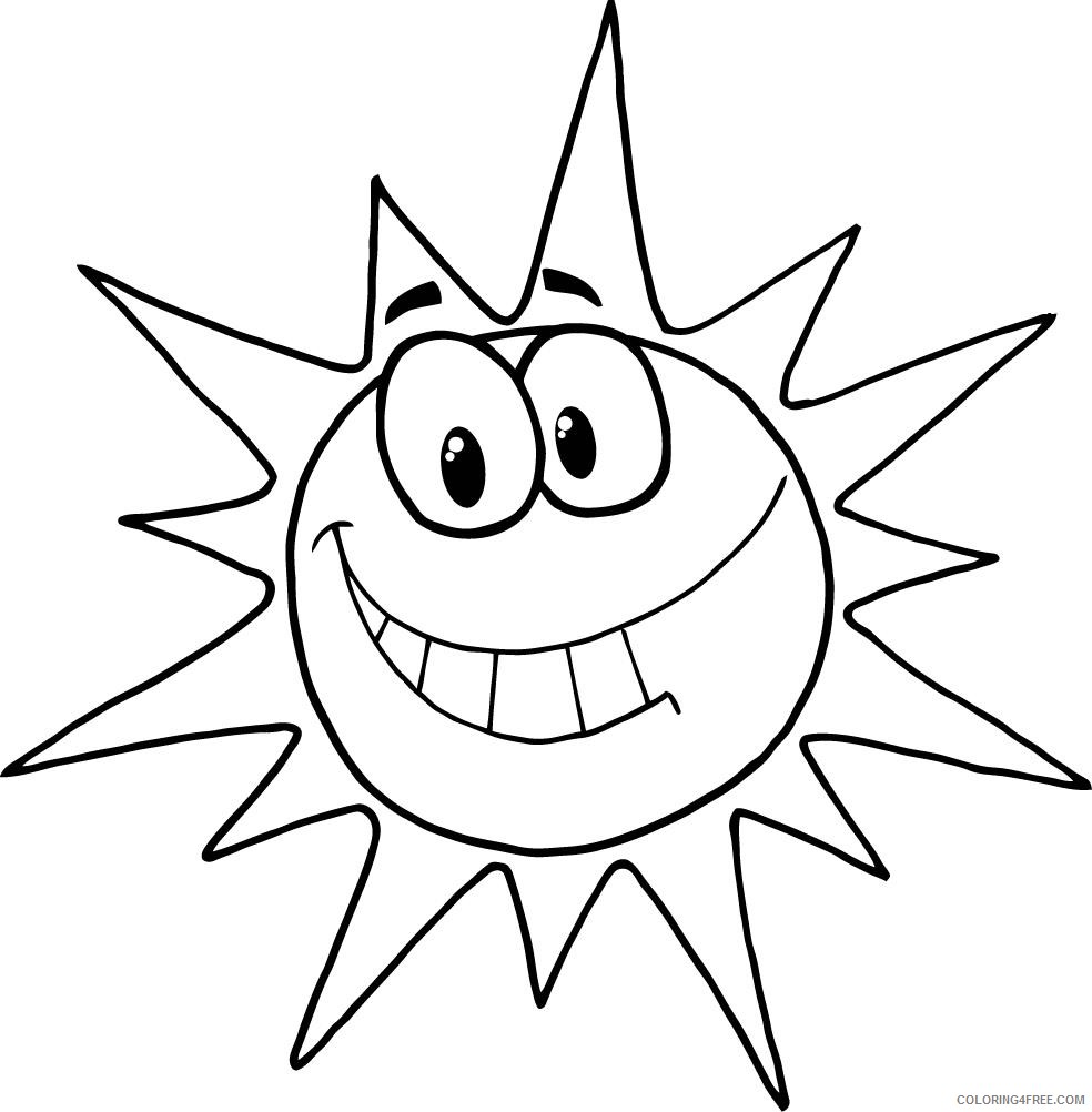 sun coloring pages cartoon Coloring4free